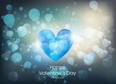 Kaart voor dag van de Valentijnskaart — Stockvector