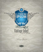 Vintage label template — Stock Vector