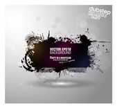 Grunge banner with an inky dribble strip — Stock Vector