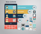 Icons for mobile marketing, email marketing — Stockvector
