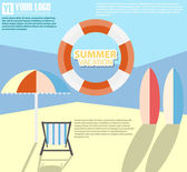 Summer infographic — Stock Vector