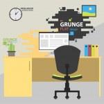 Flat modern design  illustration concept of creative office workspace — Stock Vector #49639289