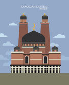 Mosque in flat style. — Stock Vector