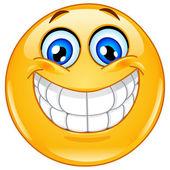 Emoticon grande sorriso — Vetorial Stock