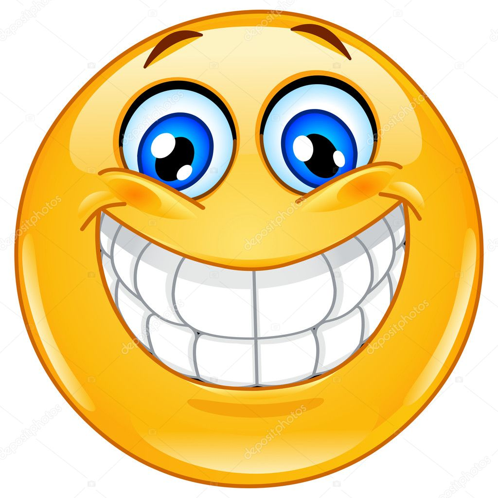 Big smile emoticon stock illustration
