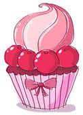 Doodle cupcake — Vettoriale Stock