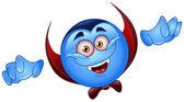 Vampire emoticon — Stock Vector