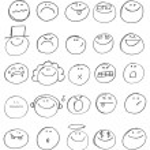 Emoticon doodles — Stock Vector