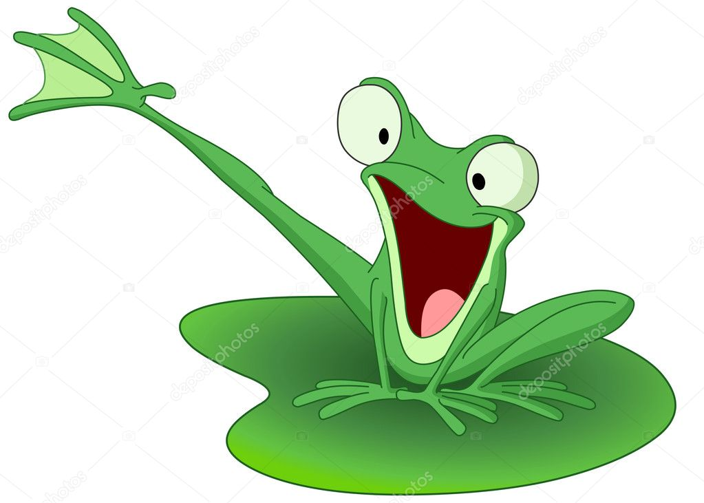 Happy frog — Stock Vector © yayayoyo #1398643