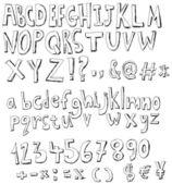 Szkic alfabet — Wektor stockowy