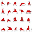 Royalty-Free Stock Vector Image: Santa hats doodles