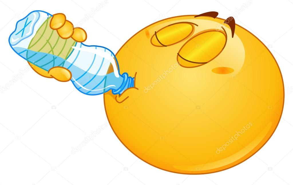 Drinking water emoticon — Stock Vector © yayayoyo #14764029