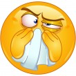 Wiping nose emoticon — Imagen vectorial