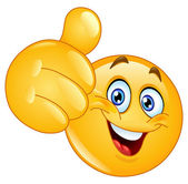 Thumb up emoticon — Stockvector