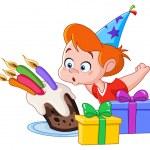 Birthday boy — Stock Vector #15894905