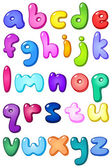 3d bubble lower case alphabet — Vector de stock