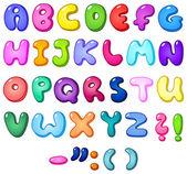 Alfabeto burbuja 3d — Vector de stock