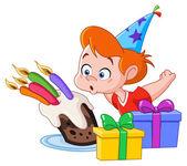 Birthday boy — Stock Vector