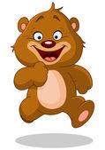 Running teddy bear — Stock Vector