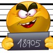 arrested emoticon — Stock Vector