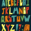 Vector de stock : Colorful 3d alphabet