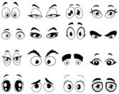 Outlined cartoon eyes — Stock Vector