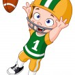 Stock Vector: Football kid