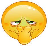 Emoticon de mal olor — Vector de stock