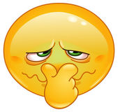 Emoticon di cattivo odore — Vettoriale Stock
