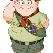 Stock Vector: Boy scout