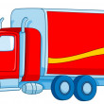 Cartoon truck — Stock Vector