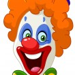 Clown face — Vettoriale Stock #25402331