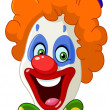 Stock Vector: Clown face