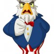 Uncle sam eagle — Stockvector