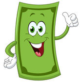 Dollar cartoon — Stock Vector
