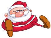 Upset Santa — Stock Vector