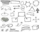 Marker elements vol 2 — Stock Vector