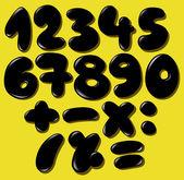 Black bubble numbers — Stockvektor