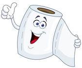 Toilet paper cartoon — Stock Vector