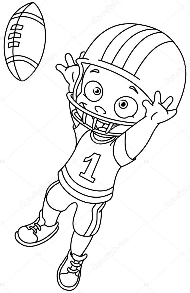 Nfl football clip art black and white