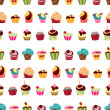 Cupcakes pattern — Stock Vector #48598075