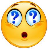 Question emoticon — Stock Vector