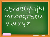 Lower case chalkboard alphabet — Stock Vector