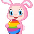 Baby with easter egg — Stock Vector #5198048