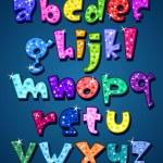 Lower case sparkling alphabet — Stock Vector #6985755