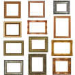 Antique picture frames isolated on white . High resolution — Foto Stock
