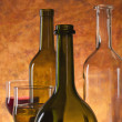 Stock Photo: Wine in different bottles