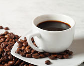 Coffee on the table — Stock Photo