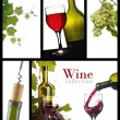 A collection of images of wine — Stok fotoğraf