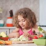 Girl preparing healthy food — Stock Photo #12400619